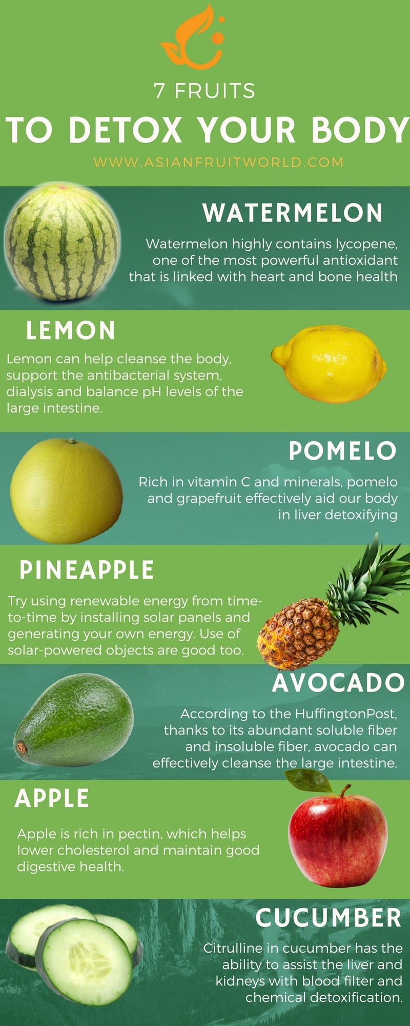 7 fruits that detox our body